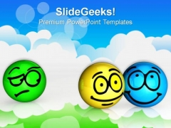 Envy Smile Face Shapes PowerPoint Templates And PowerPoint Themes 0812
