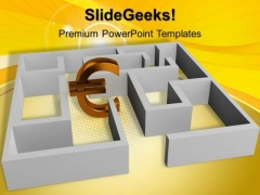 Euro Concept With Labyrinth PowerPoint Templates And PowerPoint Themes 1012