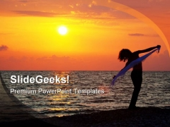Evening On Seashore Beach PowerPoint Themes And PowerPoint Slides 0311