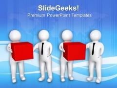 Exchange Gifts In Business Relations PowerPoint Templates Ppt Backgrounds For Slides 0613