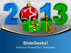 Exchange Gifts New Year 2013 PowerPoint Templates Ppt Backgrounds For Slides 0513