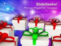 Exchange Gifts On Festivals PowerPoint Templates Ppt Backgrounds For Slides 0513
