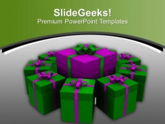 Exchange Gifts On The Special Occasions PowerPoint Templates Ppt Backgrounds For Slides 0413