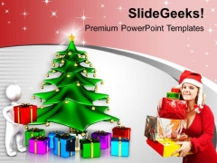 Exchange Gifts This Christmas PowerPoint Templates Ppt Backgrounds For Slides 0513