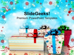 Exchange Gifts This Festive Season PowerPoint Templates Ppt Backgrounds For Slides 0513
