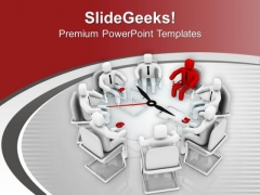 Exchange Suggestion During Team Meeting PowerPoint Templates Ppt Backgrounds For Slides 0513