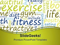 Exercise And Fitness Health PowerPoint Templates And PowerPoint Backgrounds 0811