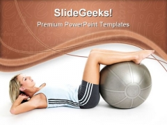 Exercise Health PowerPoint Templates And PowerPoint Backgrounds 0711