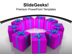 Exhibition Of Gifts Celebration PowerPoint Templates Ppt Backgrounds For Slides 0113