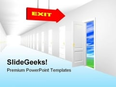 Exit Doorway Nature PowerPoint Themes And PowerPoint Slides 0811
