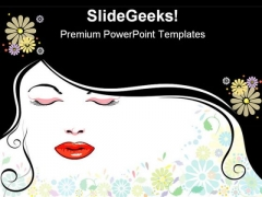 Face Blackhair Beauty PowerPoint Themes And PowerPoint Slides 0511