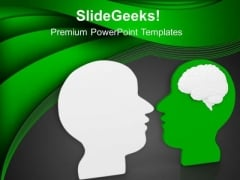 Face Yourself With Honesty PowerPoint Templates Ppt Backgrounds For Slides 0613