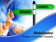 Failure Losers Winners Business PowerPoint Templates And PowerPoint Themes 0612