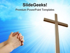 Faith And Cross Religion PowerPoint Templates And PowerPoint Backgrounds 0811