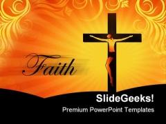 Faith Christ Religion PowerPoint Template 0610