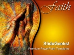 Faith Hands Religion PowerPoint Themes And PowerPoint Slides 0511