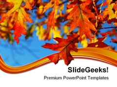 Fall Oak Leaves Nature PowerPoint Templates And PowerPoint Backgrounds 0511