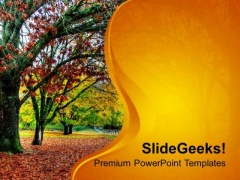 Fall Of Leaves In Autumn PowerPoint Templates Ppt Backgrounds For Slides 0513