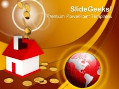 Falling Dollar Coins Home Money PowerPoint Templates And PowerPoint Themes 1012