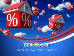 Falling Houses Rates Real Estate PowerPoint Themes And PowerPoint Slides 0711