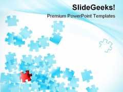 Falling Of Puzzles Business PowerPoint Themes And PowerPoint Slides 0811
