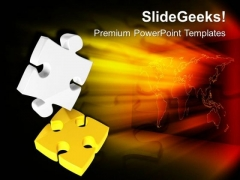 Falling Puzzles Concept Of Leadership PowerPoint Templates Ppt Backgrounds For Slides 0413