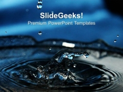 Falling Water Drops Over Blue Background PowerPoint Templates Ppt Backgrounds For Slides 1212
