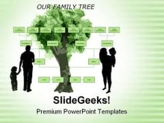 Family Tree Metaphor PowerPoint Templates And PowerPoint Backgrounds 0611