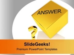 Faq Answers Business PowerPoint Templates Ppt Backgrounds For Slides 0213
