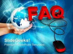 Faq With Mouse Globe PowerPoint Templates And PowerPoint Themes 0912