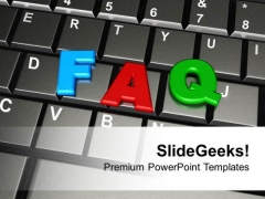 Faq Word By Colorful Letters On Keyboard PowerPoint Templates Ppt Backgrounds For Slides 0113