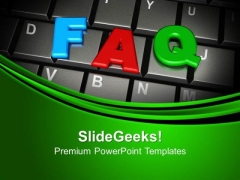 Faq Word On Keyboard PowerPoint Templates And PowerPoint Themes 1012