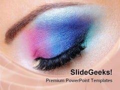 Fashion Makeup Of Eye Beauty PowerPoint Templates And PowerPoint Backgrounds 0111