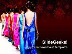 Fashion Show Events PowerPoint Templates And PowerPoint Backgrounds 0311