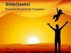 Father And Child Family PowerPoint Themes And PowerPoint Slides 0611