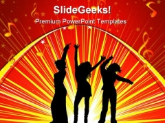 Females Dancing Music PowerPoint Templates And PowerPoint Backgrounds 0311