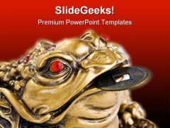 Feng Shui Frog Religion PowerPoint Themes And PowerPoint Slides 0511
