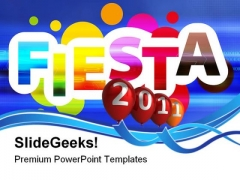 Fiesta Live 2011 Events PowerPoint Themes And PowerPoint Slides 0411