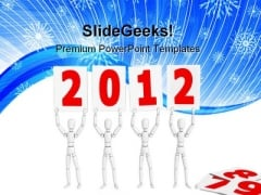 Figures Welcome New Year Festival PowerPoint Templates And PowerPoint Backgrounds 1011