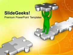 Fill The Gap And Make Bridge PowerPoint Templates Ppt Backgrounds For Slides 0513