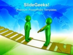 Fill The Gap In Between Bridge PowerPoint Templates Ppt Backgrounds For Slides 0613