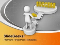 Fill The Gap Of Success Bridge PowerPoint Templates Ppt Backgrounds For Slides 0713