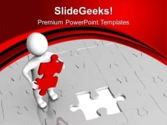 Fill The Gap With Right Part PowerPoint Templates Ppt Backgrounds For Slides 0513