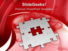 Fill The Problem With Right Solution PowerPoint Templates Ppt Backgrounds For Slides 0513