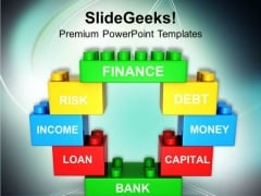 Finance Depends On Market And Risk PowerPoint Templates Ppt Backgrounds For Slides 0713