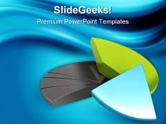Financial Pie Chart Business PowerPoint Themes And PowerPoint Slides 0411