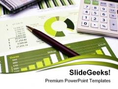 Financial Planning Money Business PowerPoint Template 1110