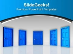 Find Out The Right Door Of Success PowerPoint Templates Ppt Backgrounds For Slides 0513