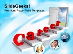 Find Right Door Focus On Career PowerPoint Templates Ppt Backgrounds For Slides 0513