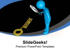 Find Right Key For Business PowerPoint Templates Ppt Backgrounds For Slides 0713